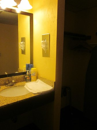 Tidewater Inn: Sink outside of the bathroom in the room