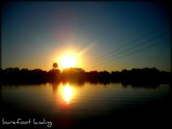 Sunset over Barefoot Landing