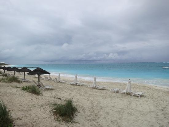 Seven Stars Resort & Spa:                   Resort beach during wind and rain storm