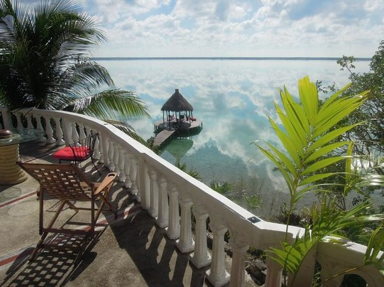 Pehaltun Villas:                   from the terrace of the palapa