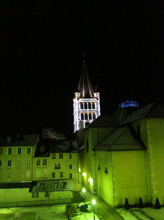 Le Royal :                   View from our room at night...