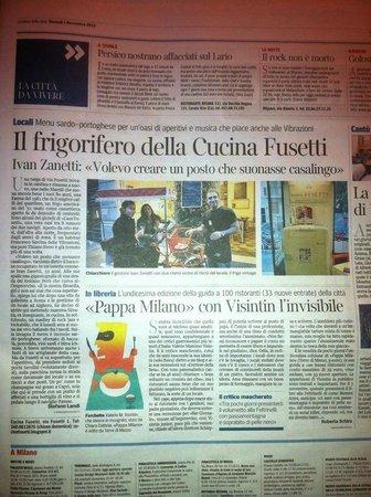 Articolo corriere della sera picture of cucina fusetti milan tripadvisor - Corriere della sera cucina ...
