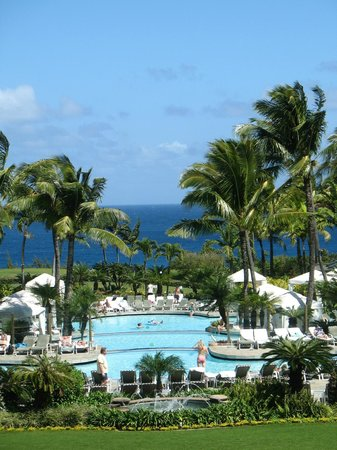 The Ritz-Carlton, Kapalua: From restaurant terrace while enjoying breakfast.