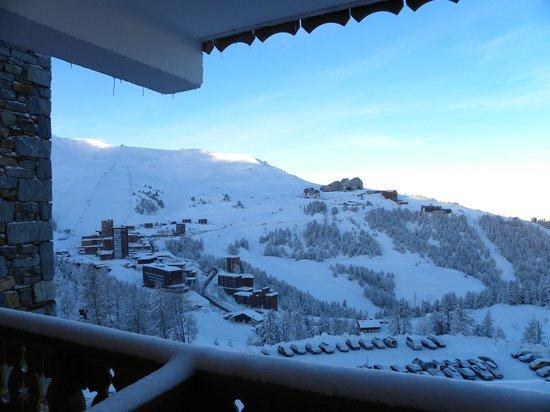 Residence LVH Vacances - Sun Valley: Vue du balcon sur Plagne Aime 2000