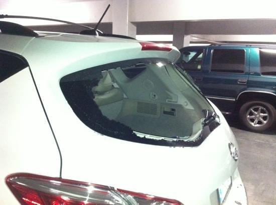 เดอะออร์ลีนส์ โฮเต็ล&คาสิโน:                   Smashed rear window