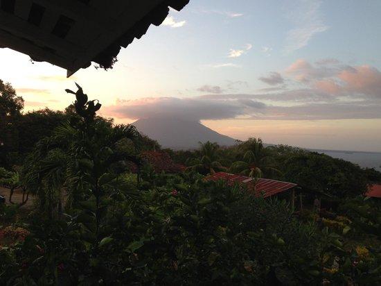 Finca Magdalena :                   Looking towards the Concepcion volcano