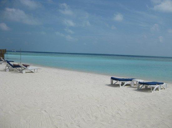 The Strand Hotel :                   private beach