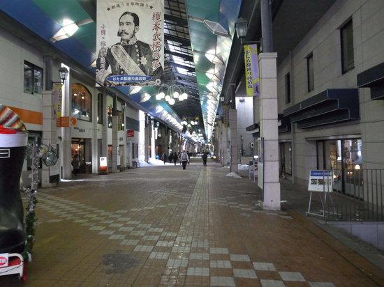 Otaru Miyakodori Shopping District:                   人がいません