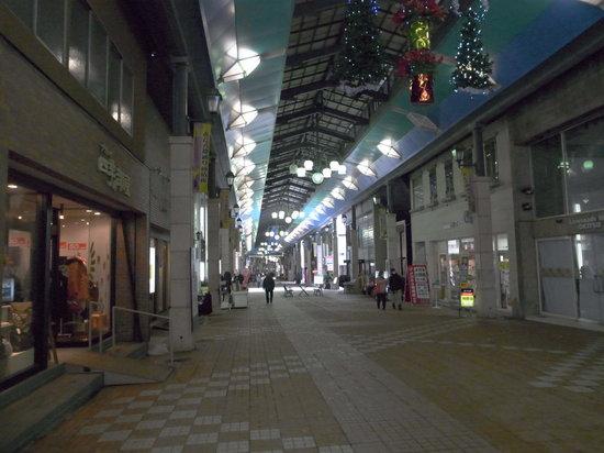 Otaru Miyakodori Shopping District:                   人が全然いません