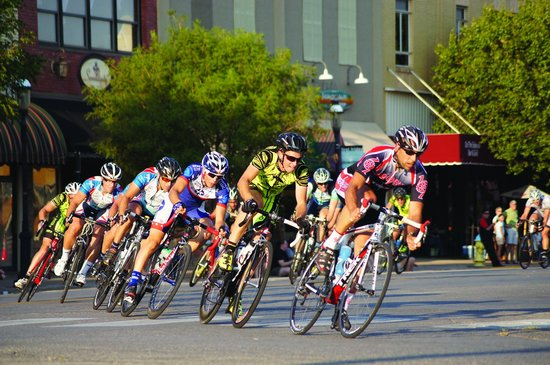 The Criterium bicycle race is held each August in downtown Enid along with Tou