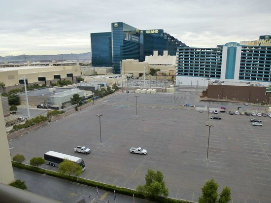 Polo Towers Suites:                   View of the parking lots and mechanical units for the MGM