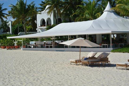 Cap Juluca:                   Blue Restaurant for breakfast & lunch, right on beach