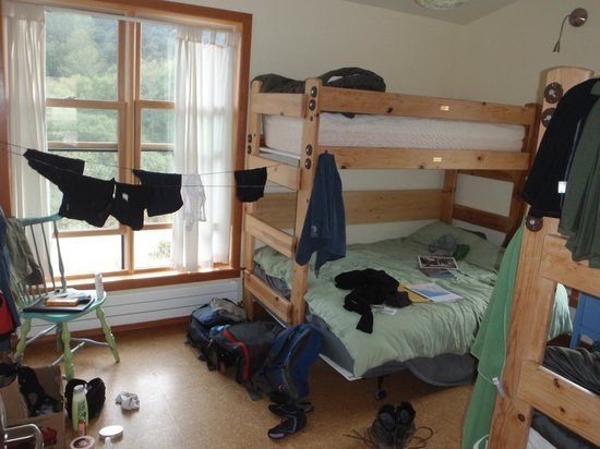 Point Reyes Hostel: One of the family/private rooms (slightly destroyed by our mess)