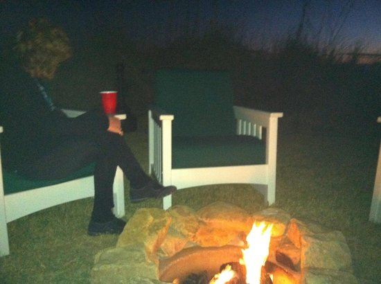Henderson Park Inn:                   Wine, cozy firepit and the sound of the ocean!