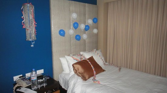 Hard Rock Hotel Cancun :                                     Bday decorations by the staff for son's bday.