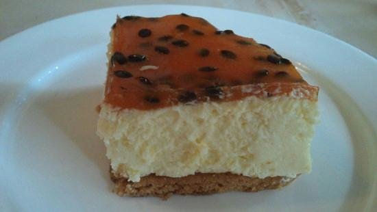 The Bakery:                   cheesecake de maracuyá