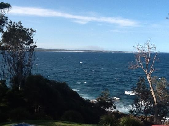 Bannisters by the sea:                   the view from ourvroom !
