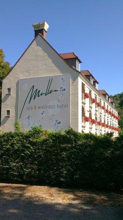 Hotel Muller:                   L'hôtel vu depuis rue adjacente