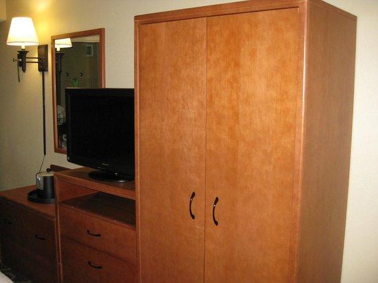 Hampton Inn Tampa International Airport / Westshore: TV and wardrobe