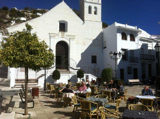 La Taberna del Sacristan: Church Square & Restaurant outside seating