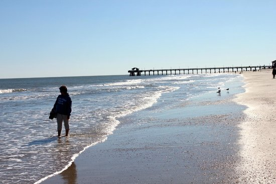 South Beach : Tybee beach and pier