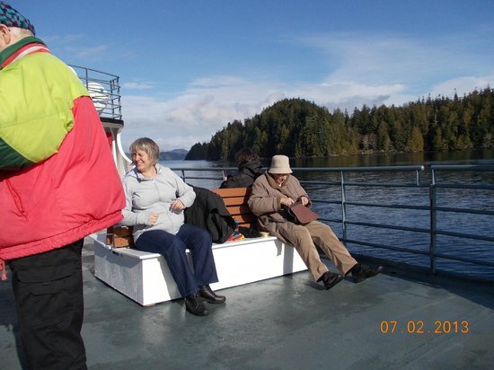 Lady Rose Marine Services:                                     Up top taking in some sun just before we leave Bamfield