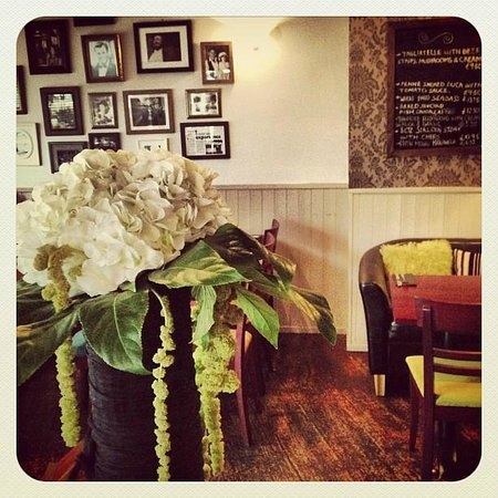 La Tavernetta:                   Inside