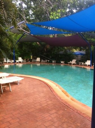 Cable Beach Caravan Park:                   great shady pool
