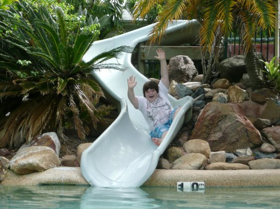 NRMA Treasure Island Holiday Park:                   Main Pool Slide