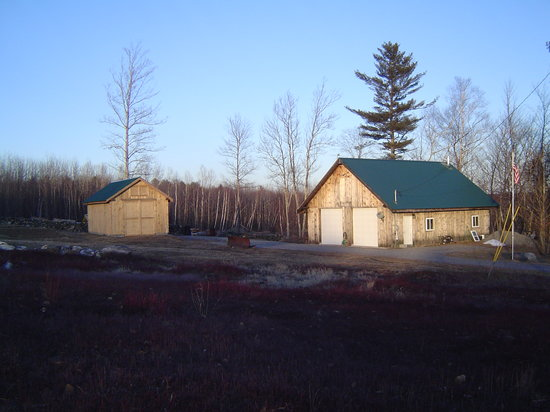Blueberry Fields Bed & Breakfast: barn & sawmill shed