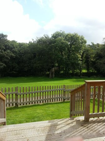Coombe Mill:                   View from verandah on Trebah