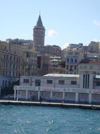 Bosphorus Strait:                   Vista desde el Bosforo
