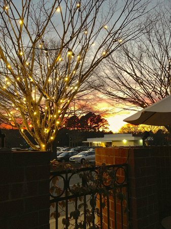 The Weathervane Restaurant:                                     Sunset view from our table, Valentine's Day 2013.