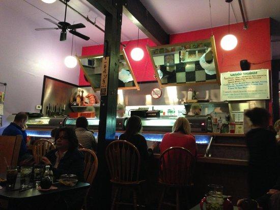 Wasabi Sushi Bar:                   Sushi Whitefish style!
