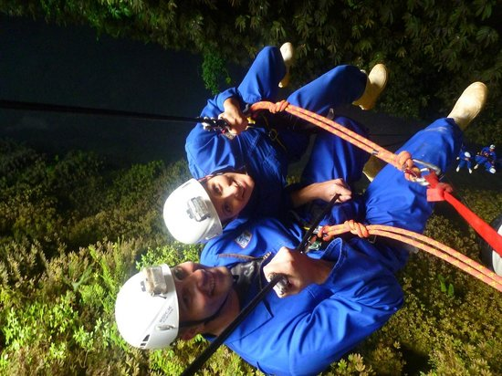 Waitomo Adventures - Lost World 4 Hr Option:                   abseilling looking down