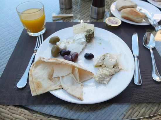 Palace Downtown:                   Amazing Lebanese cheeses at breakfast!