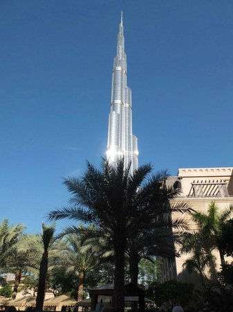 Palace Downtown:                   View of the Burj Khalifa from the breakfast area