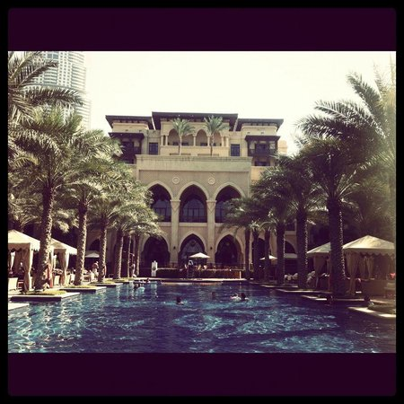 The Palace Downtown Dubai:                   Pool area - gorgeous!