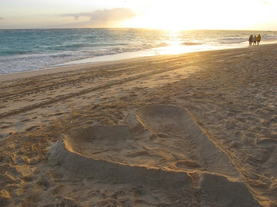 Hotel Riu Palace Punta Cana:                                     Sunrise on the beach