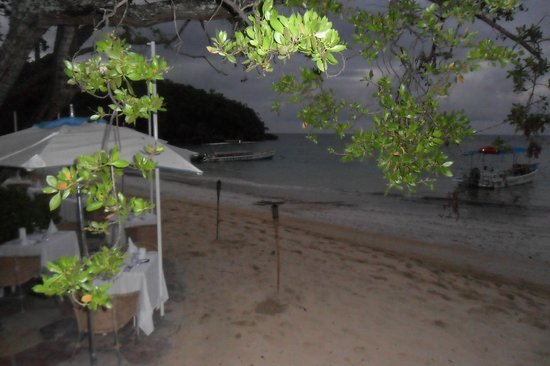 Couples Sans Souci:                   private area on the beach in the evening