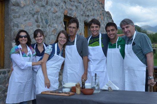 Estancia La Alejandra:                   Equipe de cozinheiros