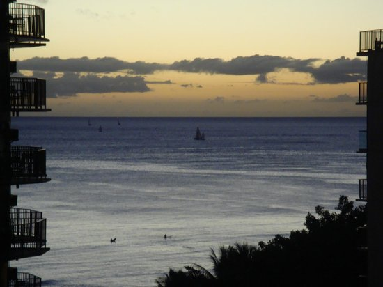 Waikiki Resort Hotel:                   Waikiki Sunset from room balcony