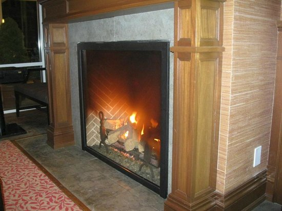 Inn by the Sea: Fireplace in lounge