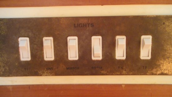 Perkasa Hotel: 'Antique' style switches