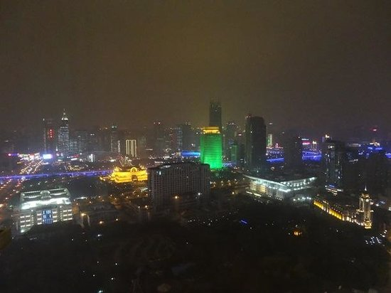 Radisson Blu Hotel Shanghai New World:                   View at night from 36th floor