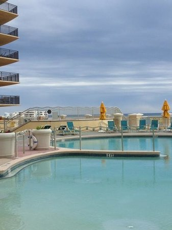 Emerald Grande at HarborWalk Village:                   View from Emerald Grande pool area