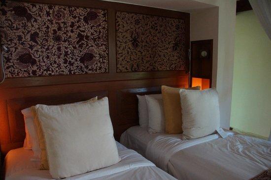 Belmond Jimbaran Puri:                   ハリウッドツインのベッド