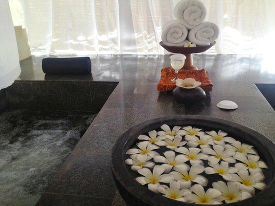 Belmond Jimbaran Puri:                   スパ後のジャグジー