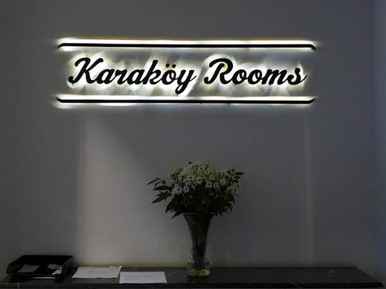 Karakoy Rooms: Sign on the Reception