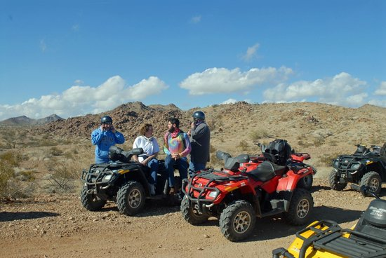 ATV Experience :                   Taking a break & enjoying the spectacular views.
